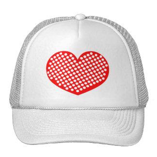 Polkadot Heart Trucker Hats