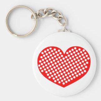 Polkadot Heart Keychains