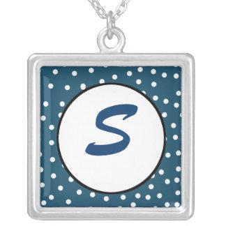 Polkadot Monogram Necklace