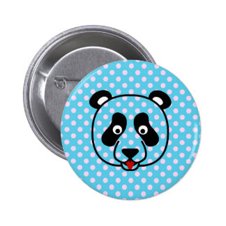 Polkadot Panda Face Buttons