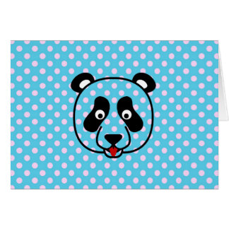 Polkadot Panda Face Card