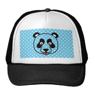 Polkadot Panda Face Trucker Hats