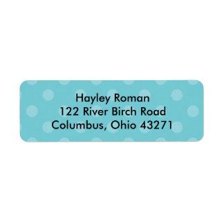 Polkadot Personalized Address Label, BLue Return Address Label