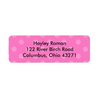 Polkadot Personalized Address Label, Pink Return Address Label