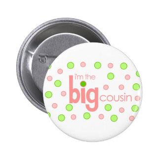 Polkadot pink and green Big Cousin T-shirt Pins