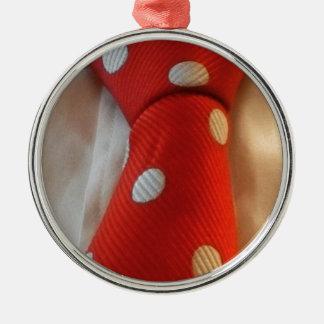 polkadot slipsie Silver-Colored round decoration