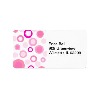 Polkadot Stamp Address Label