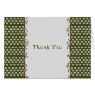 Polkadot Thank You Card