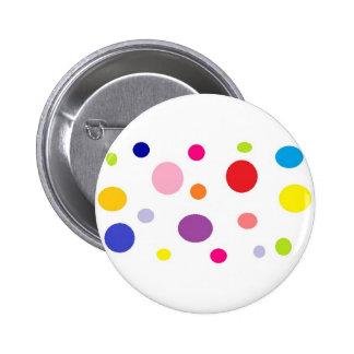 polkadots 6 cm round badge