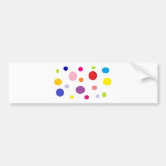 polkadots bumper sticker