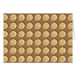 Polkadots - Chocolate Marshmallow Greeting Card