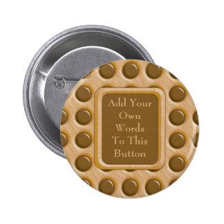 Polkadots - Chocolate Peanut Butter 6 Cm Round Badge