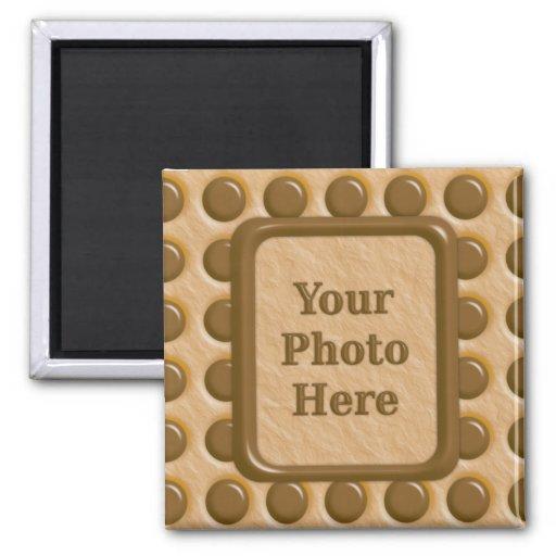 Polkadots - Chocolate Peanut Butter Refrigerator Magnet