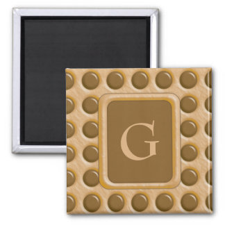Polkadots - Chocolate Peanut Butter Square Magnet