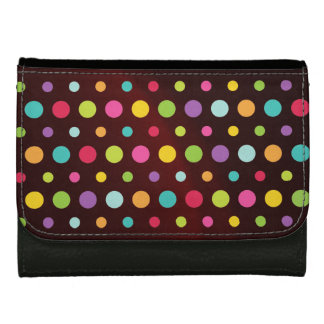 Polkadots Colors Leather Wallet For Women