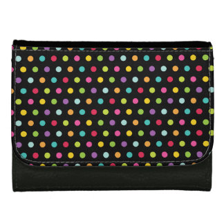 Polkadots Colors Leather Wallets