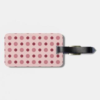 Polkadots Pink Bag Tag