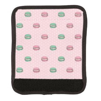 polkadots pink macarons 2 ai luggage handle wrap