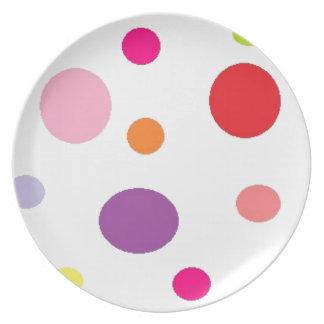 polkadots plate