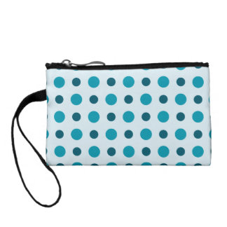 Polkadots Turquoise Coin Purses