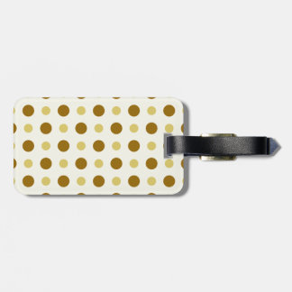 Polkadots Yellow and Brown Tag For Luggage