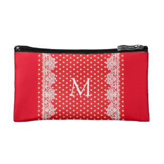 Polkidot Lace Style Small Cosmetic Bag