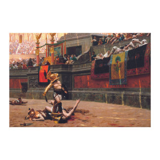"""Pollice Verso wrapped canvas 53.5"""" x 35.5"""""""
