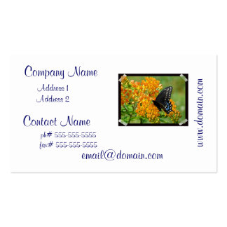 Pollinating Butterfly Business Cards