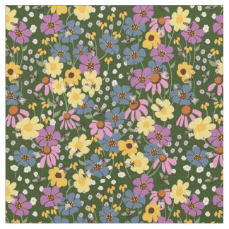 Pollination Floral Fabric