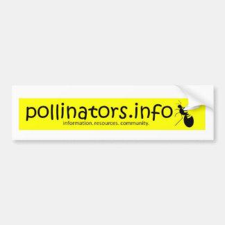 pollinators.info bumper sticker 3