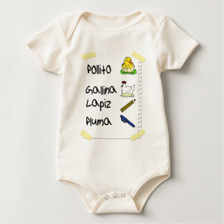 Pollito chicken baby bodysuit