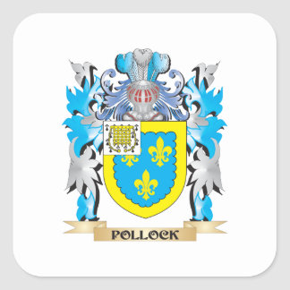 Pollock Coat of Arms - Family Crest Square Sticker
