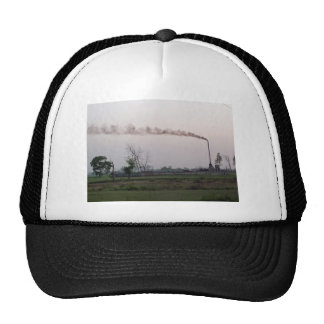 Pollution and global warming trucker hat
