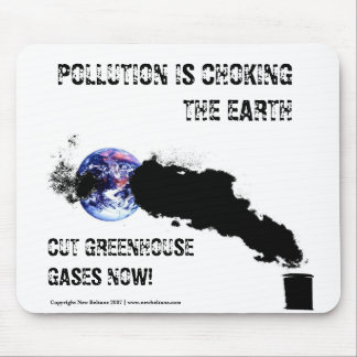Pollution is choking the earth - Mousemat. Customi Mouse Pad