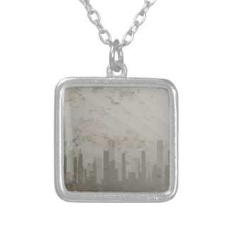 Pollution Silver Plated Necklace