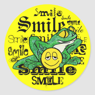 Pollywog with a Smile Classic Round Sticker