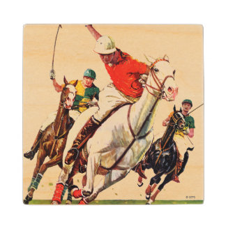Polo Match Wood Coaster