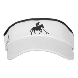 Polo Player in Silhouette Graphic Visor