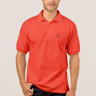 Polo shirt with tall ship image