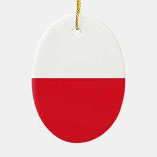 Polonian flag ceramic ornament