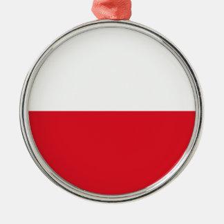 Polonian flag metal ornament