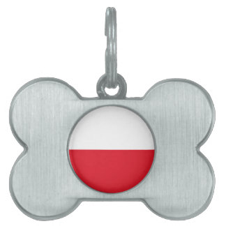 Polonian flag pet ID tag