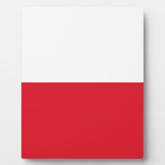 Polonian flag plaque