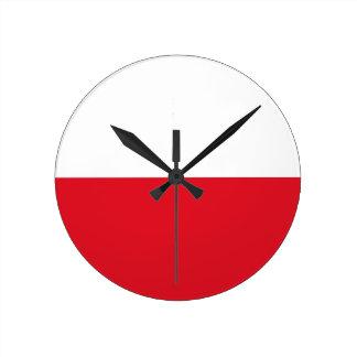 Polonian flag round clock