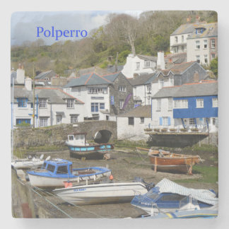 Polperro Cornwall England Low Tide Stone Coaster