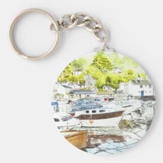 'Polperro Reflections' Keychain