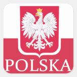 Polska Flag Coat of Arms Stickers