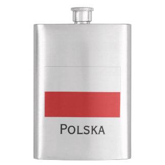 Polska Polish Flag Hip Flask