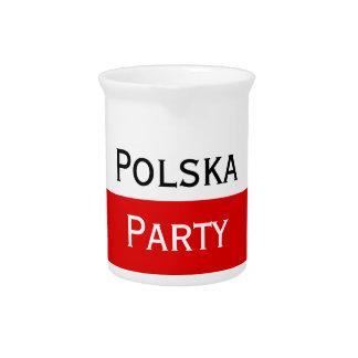 Polska Polish Flag Pitcher