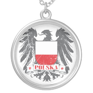 Polska Shield Silver Plated Necklace